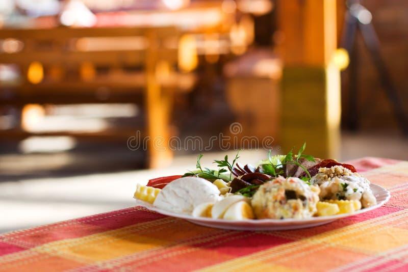 Alimento do gourmet fotografia de stock royalty free