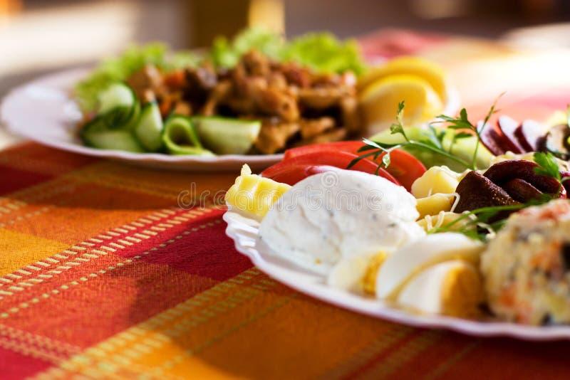 Alimento do gourmet fotos de stock royalty free