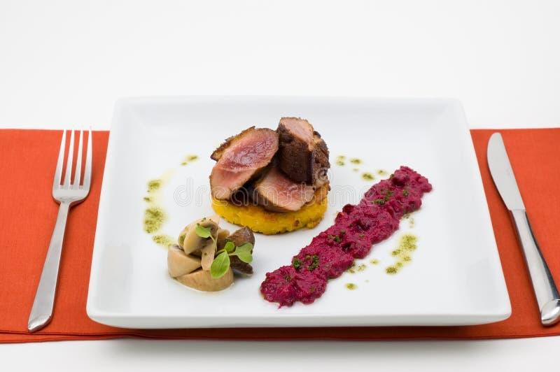 Alimento do gourmet isolado. imagens de stock royalty free