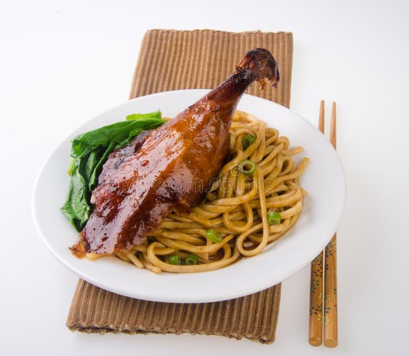 Alimento do macarronete do pato. imagem de stock