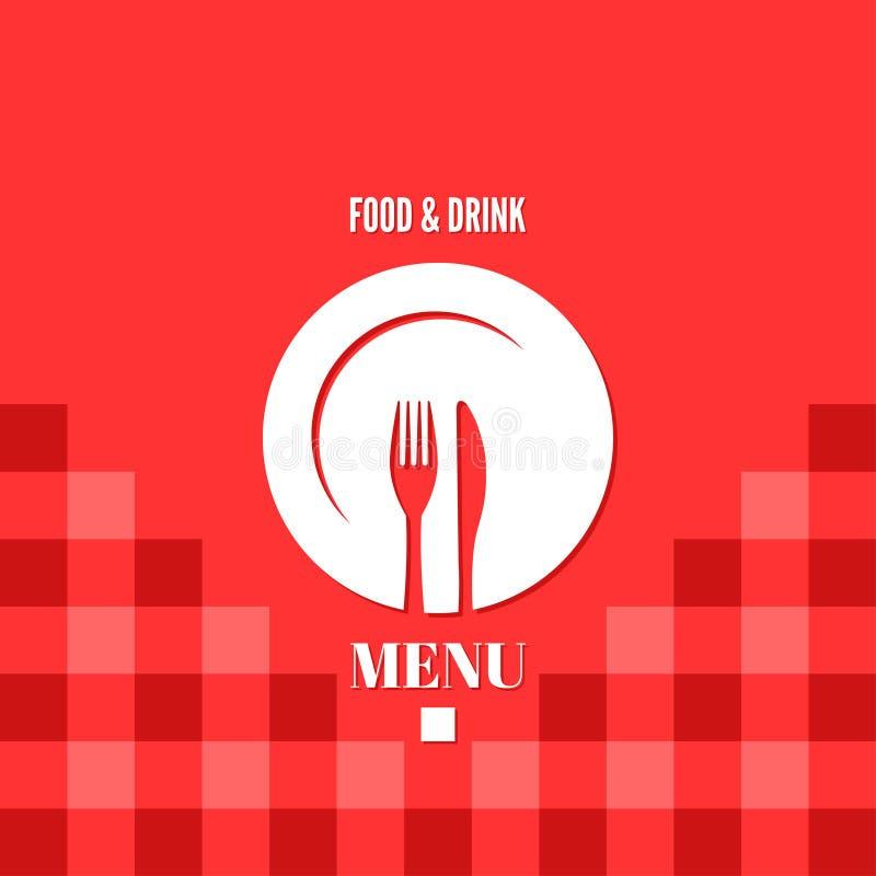 Alimento do menu e projeto da bebida ilustração royalty free