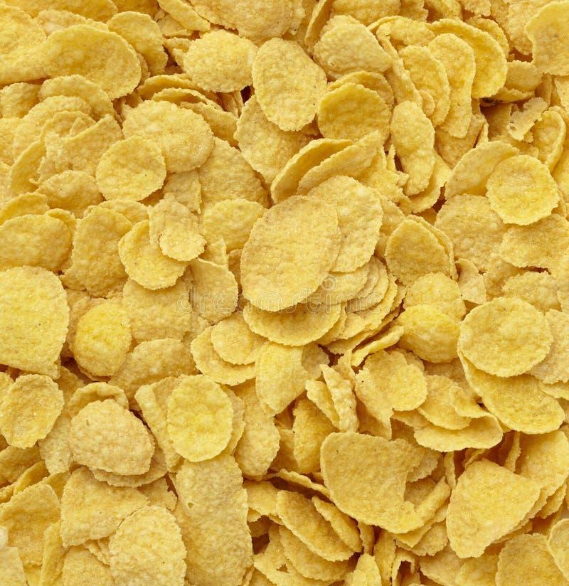 Alimento do muesli dos cereais dos flocos de milho fotografia de stock