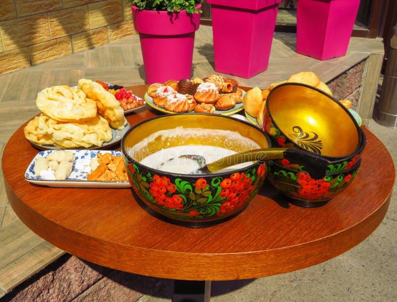 Alimento do nacional do Cazaque foto de stock