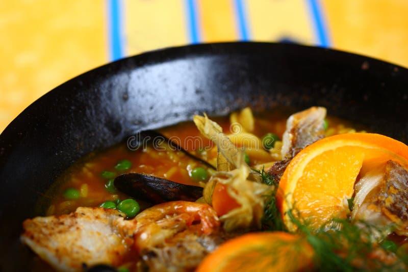 Alimento do Paella imagens de stock