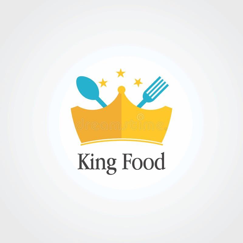 Alimento do rei com pouco vetor do logotipo da estrela e da coroa, ícone, elemento, e molde para a empresa ilustração royalty free