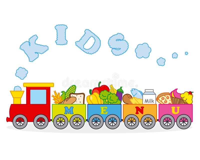 Alimento do trem ilustração stock