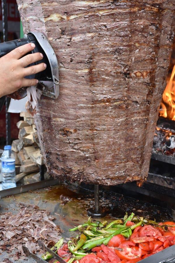 Alimento do turco de Doner Kebab imagem de stock royalty free