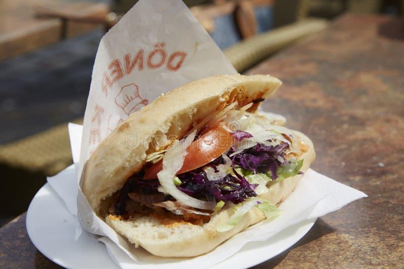 Alimento do turco de Doner Kebab imagens de stock