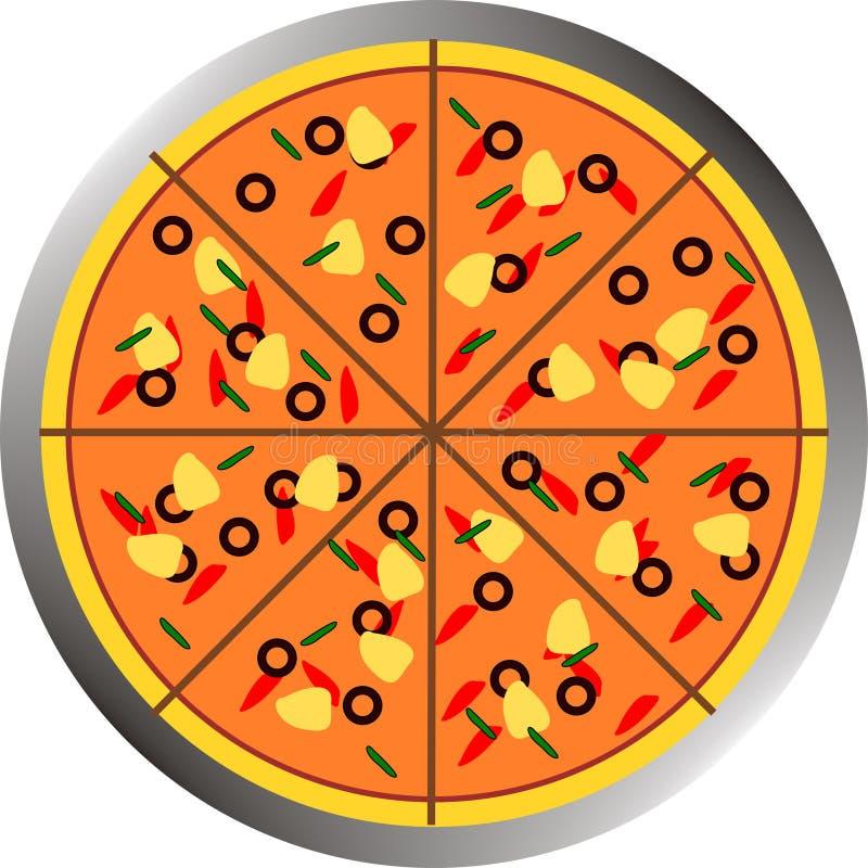 Alimento do vetor - pizza ilustração royalty free