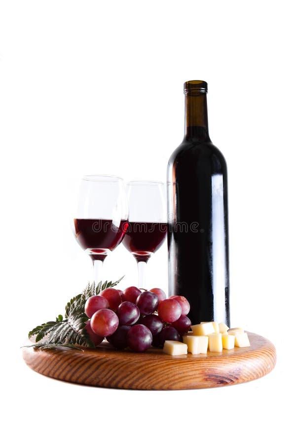 Alimento do vinho e de gourmet foto de stock royalty free
