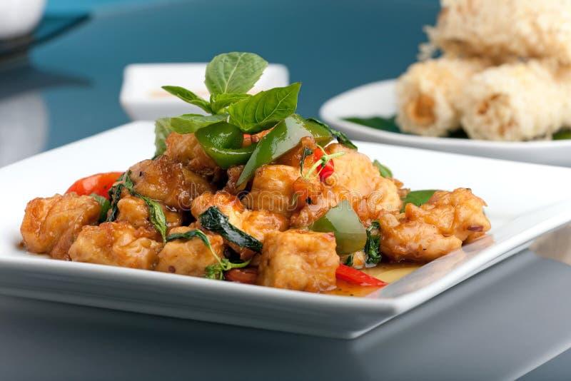 Alimento e aperitivos tailandeses fotografia de stock royalty free
