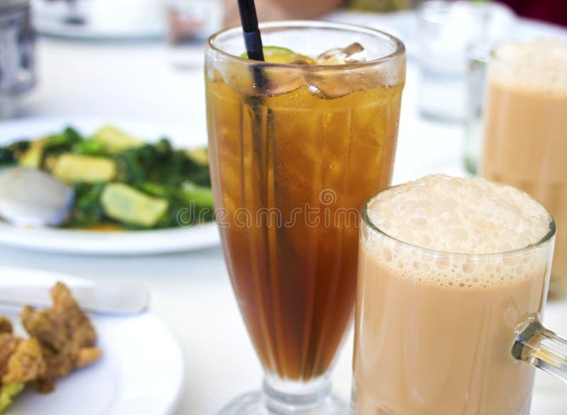 Alimento e bebida imagem de stock