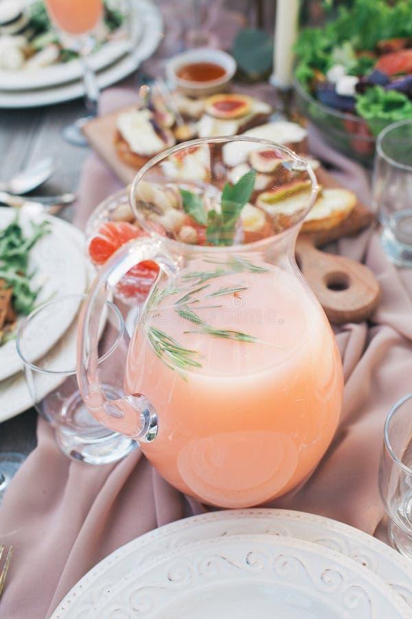 Alimento e bebida deliciosos foto de stock royalty free
