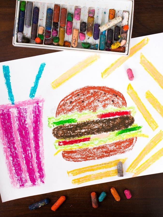 Alimento e bebida insalubres ilustração royalty free