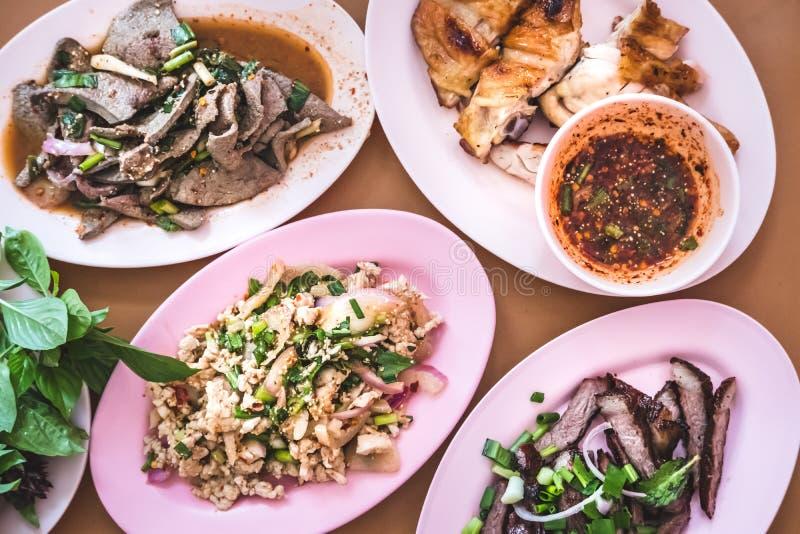 Alimento e comer em Tailândia do nordeste foto de stock