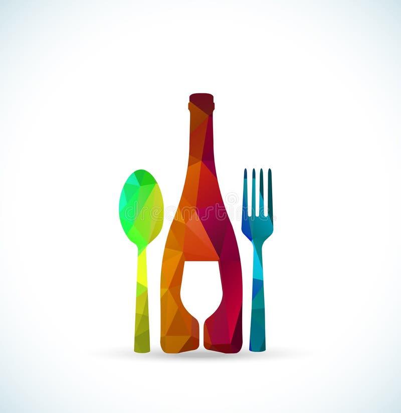 Alimento e tampa do menu das bebidas ilustração royalty free