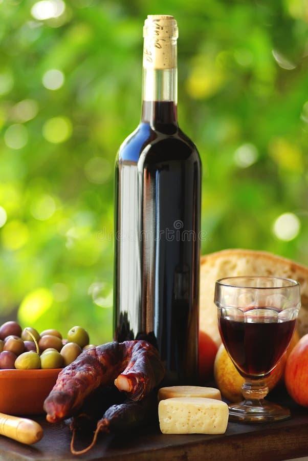 Alimento e vinho portugueses. fotografia de stock royalty free