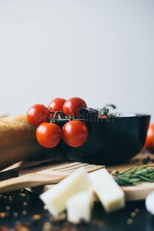 Alimento ed ingredienti sani per cucinare fotografia stock