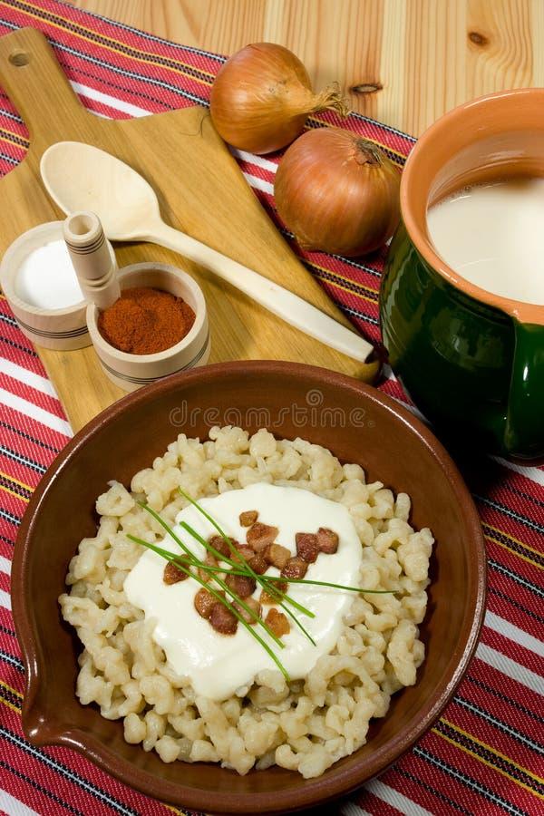 Alimento eslovaco tradicional foto de archivo