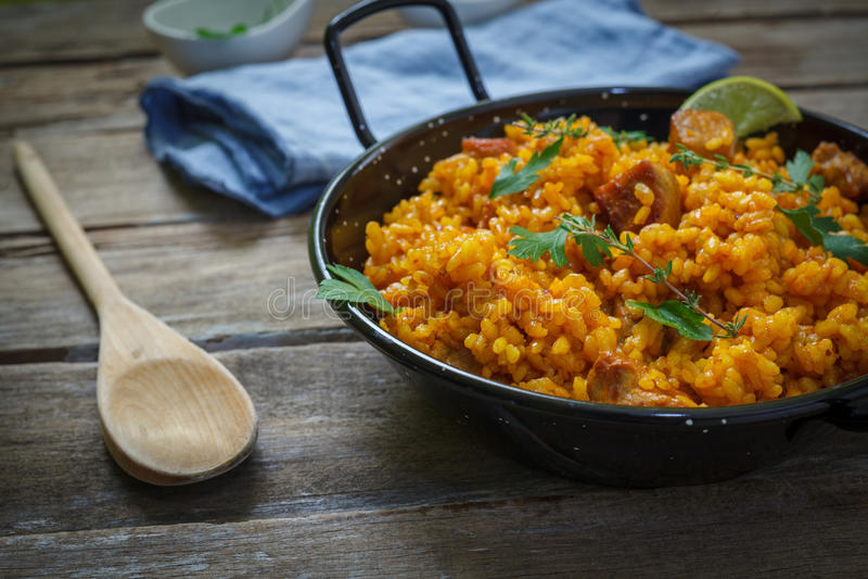 Alimento espanhol foto de stock
