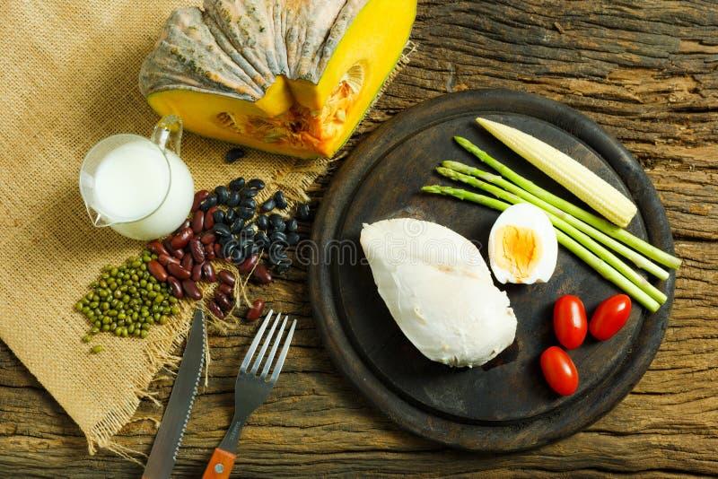 Alimento Fondo dell'alimento di prima colazione dell'alimento salute dell'alimento L'alimento mangia E immagine stock