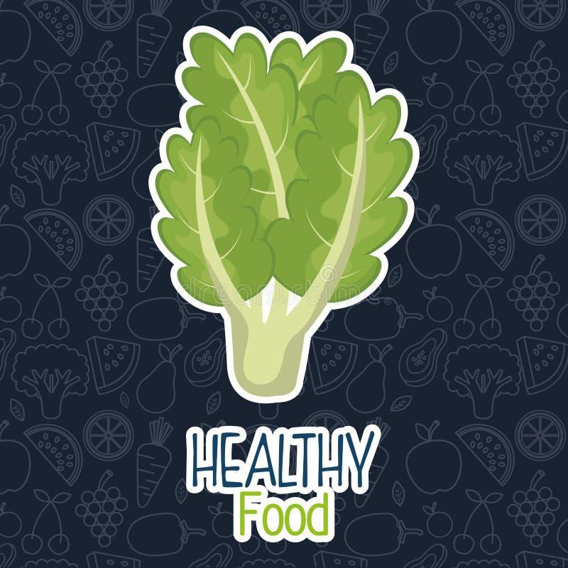 alimento fresco del vegetariano della lattuga illustrazione vettoriale