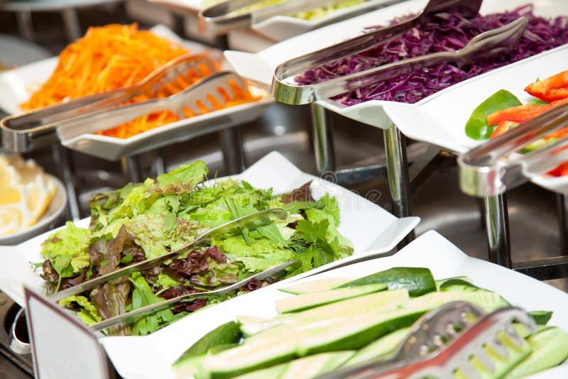 Alimento fresco 2 della foto del buffet del ristorante fotografia stock
