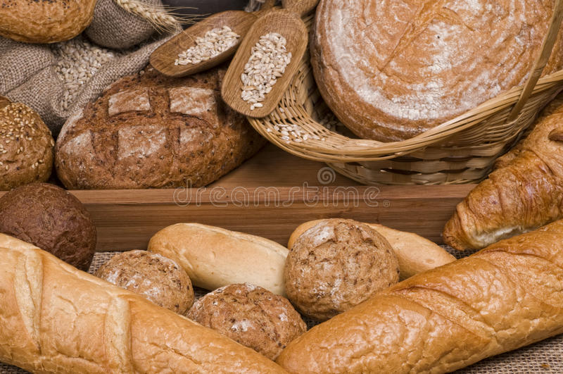 Alimento fresco do pão fotografia de stock royalty free