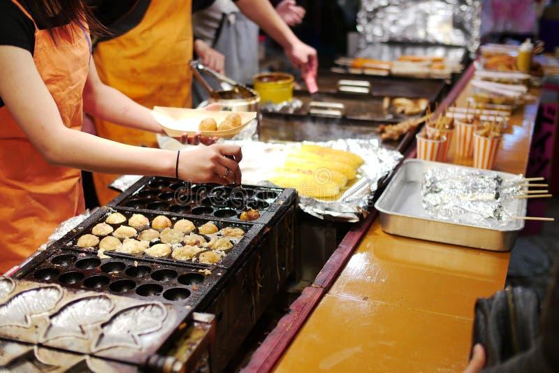 Alimento giapponese della via immagini stock