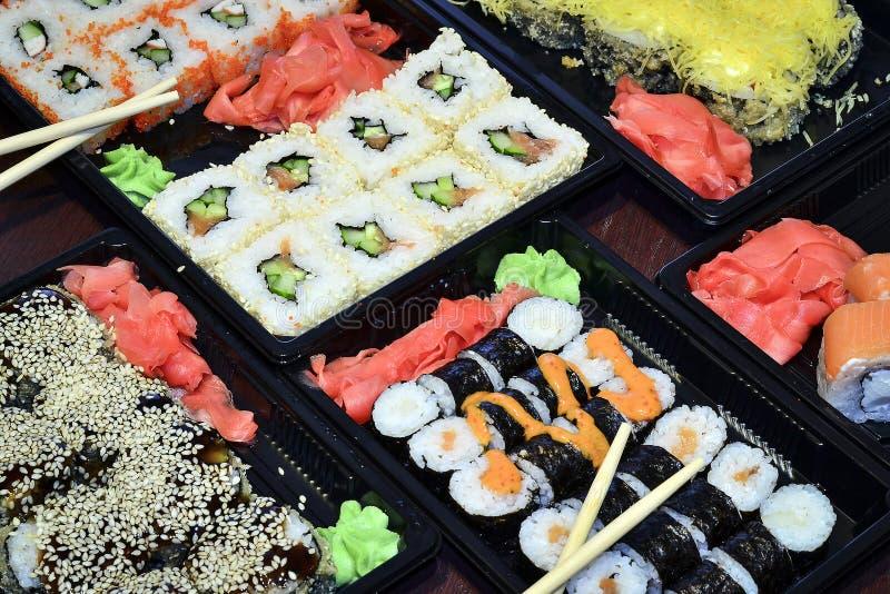 Alimento giapponese ed asiatico fotografia stock libera da diritti