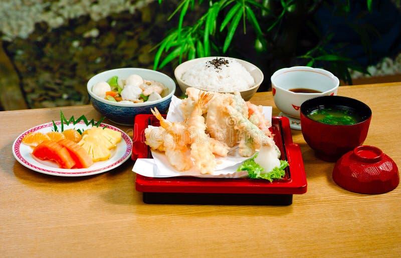 Alimento giapponese rassodato del Tempura fotografia stock libera da diritti