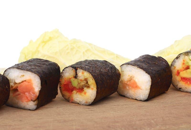 Alimento giapponese tradizionale, sushi fotografia stock libera da diritti