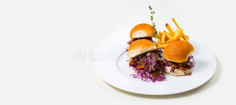 Alimento gourmet da barra em um fundo branco fotografia de stock