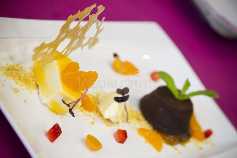 Alimento gourmet do prato fotos de stock royalty free