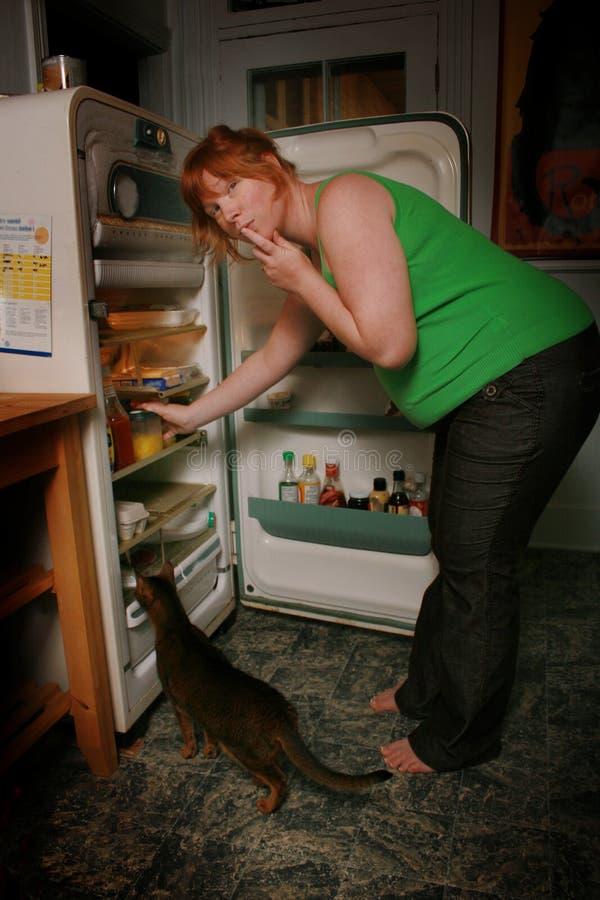 Alimento implorando da mulher gravida fotos de stock