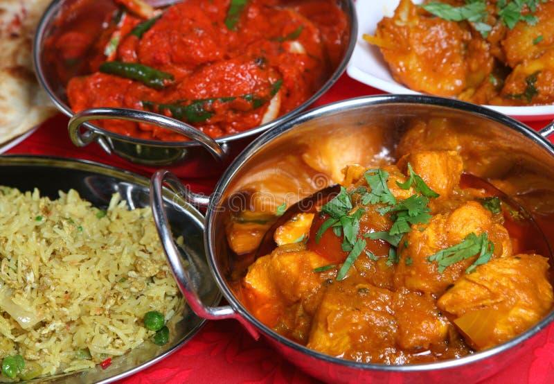 Alimento indiano da refeição do caril fotografia de stock royalty free