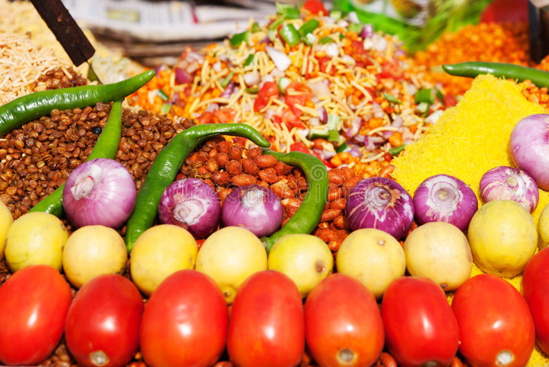 Alimento indiano da rua fotos de stock royalty free