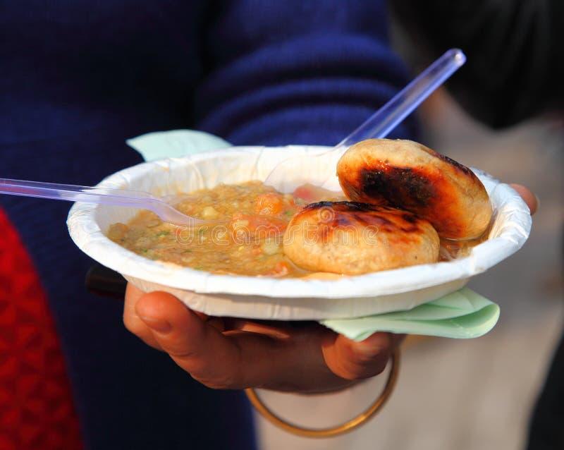 Alimento indiano da rua fotografia de stock