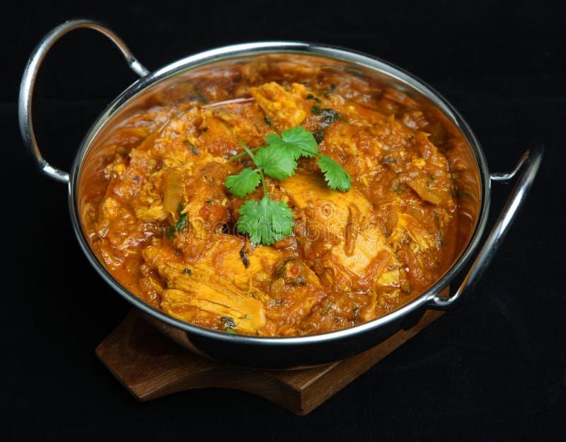 Alimento indiano del curry di Rangoon del pollo fotografie stock