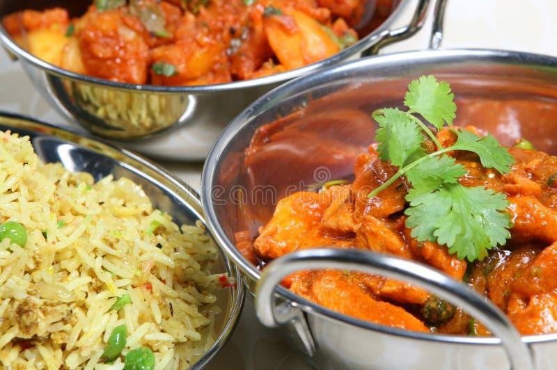 Alimento indiano del pasto del curry fotografie stock libere da diritti