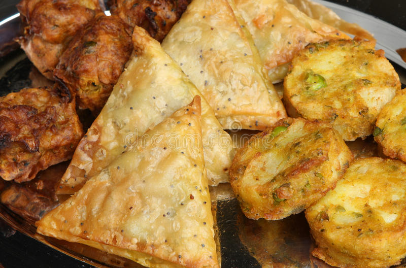 Alimento indiano do bufete fotografia de stock royalty free