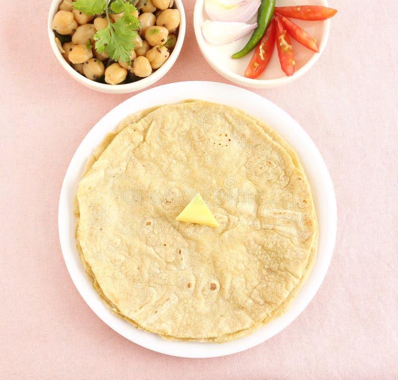 Alimento indiano sano Jowar Roti fotografia stock libera da diritti