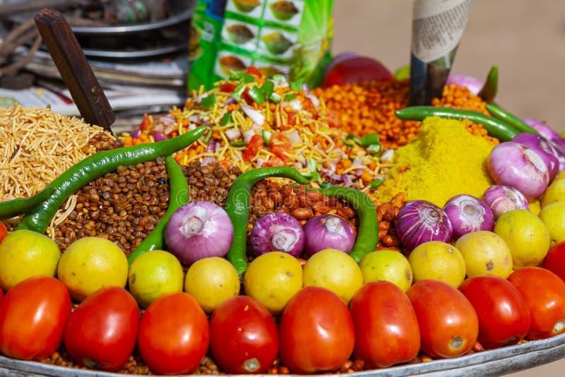 Alimento indiano tradizionale del mercato fotografia stock