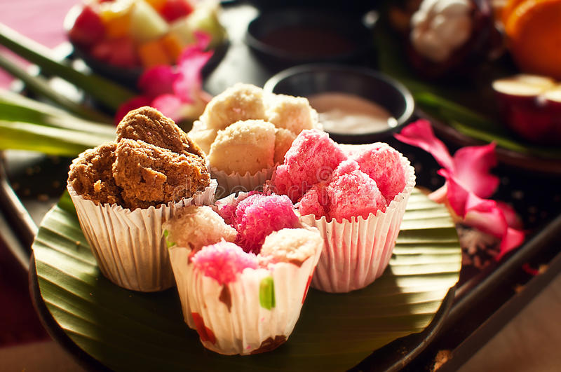Alimento indonésio em bali fotografia de stock