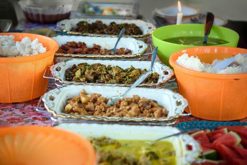 Alimento indonesiano tradizionale fotografia stock