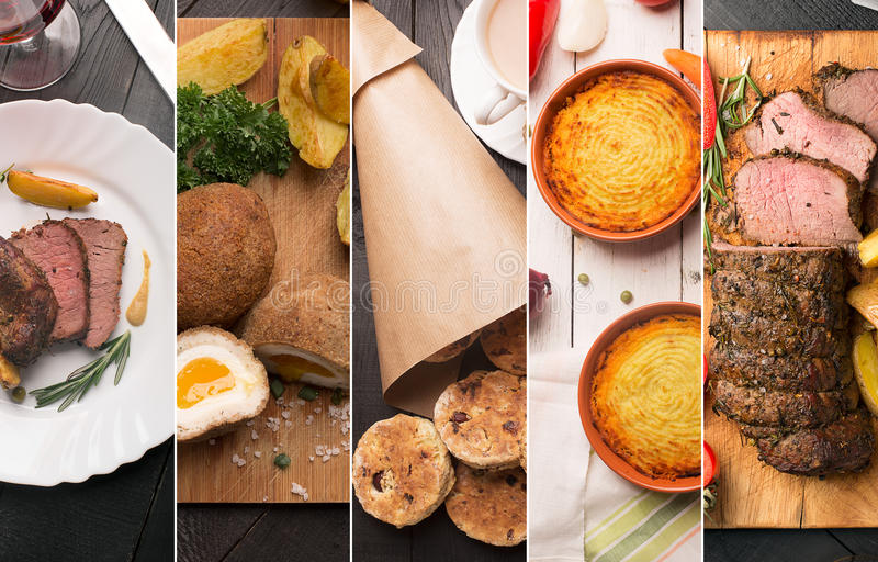 Alimento inglese tradizionale immagine stock libera da diritti