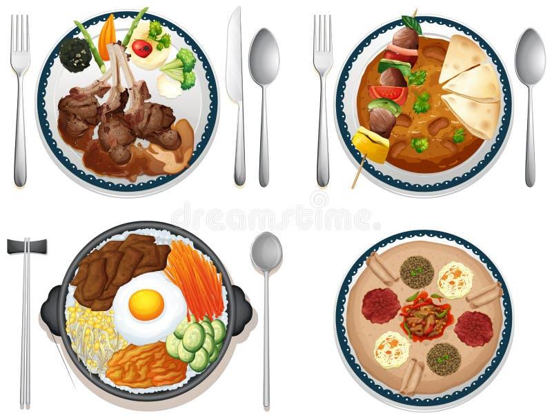 Alimento internacional stock de ilustración