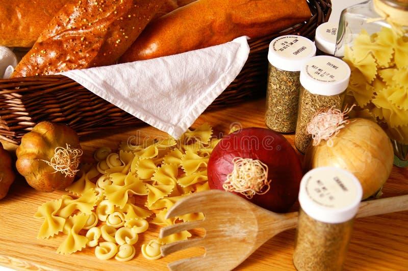 Alimento italiano fotografía de archivo libre de regalías