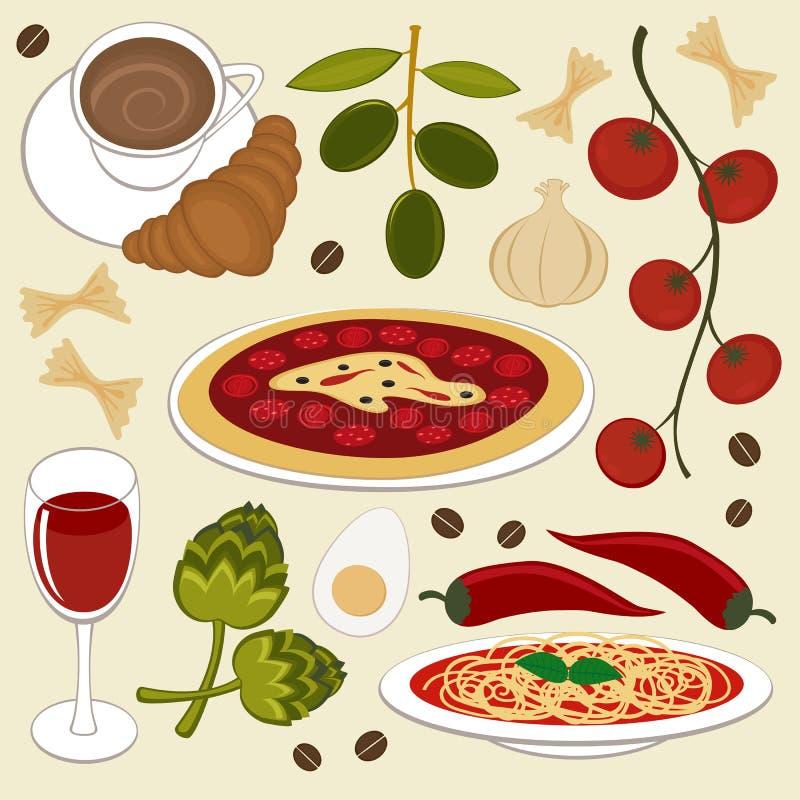 Alimento italiano royalty illustrazione gratis