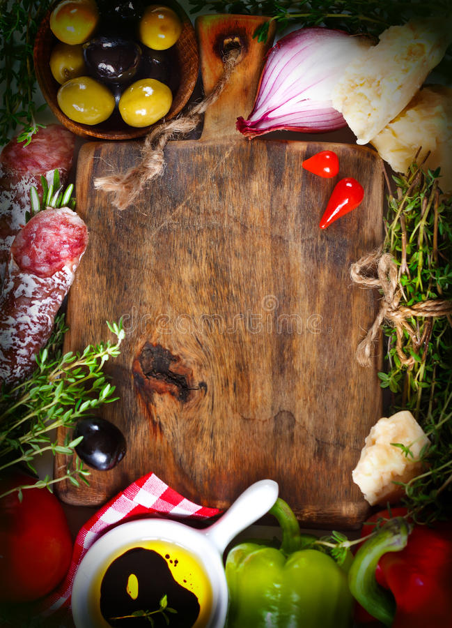 Alimento italiano foto de stock royalty free